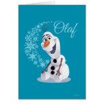 Copos de nieve de Olaf Tarjeton