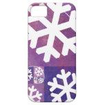 Copos de nieve de oro del coeficiente iPhone 5 Case-Mate coberturas