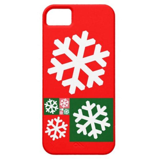 Copos de nieve de oro del coeficiente iPhone 5 carcasa