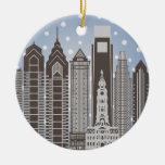 Copos de nieve de Philly Ornamento Para Arbol De Navidad
