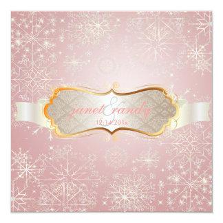 Copos de nieve de PixDezines, acontecimientos del Invitación 13,3 Cm X 13,3cm