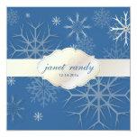 ¡Copos de nieve de PixDezines, color del invierno Invitación