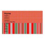 Copos de nieve de plata del oro en rayas rojas plantilla de tarjeta de negocio