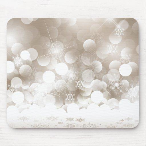 Copos de nieve de plata Mousepad del navidad Alfombrilla De Ratones