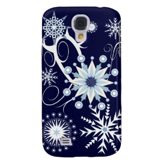 Copos de nieve decorativos y remolinos