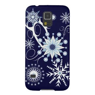 Copos de nieve decorativos y remolinos carcasa de galaxy s5