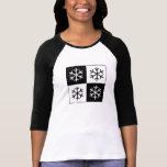 Copos de nieve del arte pop camiseta