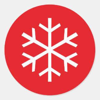 Copos de nieve del arte pop pegatina redonda