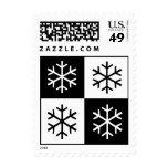 Copos de nieve del arte pop sello