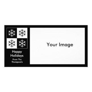 Copos de nieve del arte pop tarjeta con foto personalizada