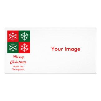 Copos de nieve del arte pop tarjetas personales
