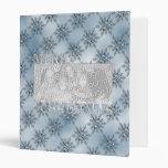 Copos de nieve del azul del marco de la foto del r