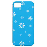 Copos de nieve del azul y del blanco de cielo iPhone 5 funda