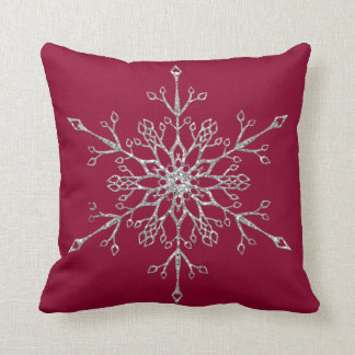 Copos de nieve del brillo de la plata y del oro almohadas