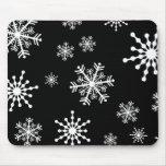 Copos de nieve del día de fiesta tapetes de ratones