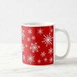 Copos de nieve del día de fiesta tazas de café