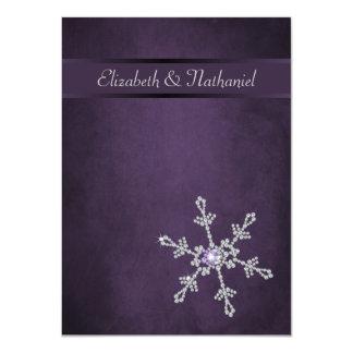 Copos de nieve del diamante y menú del boda de la comunicados
