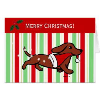 Copos de nieve del dibujo animado del navidad del tarjeta