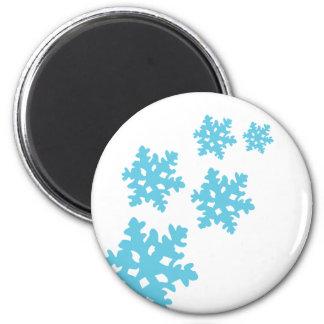 copos de nieve del icey azules imán