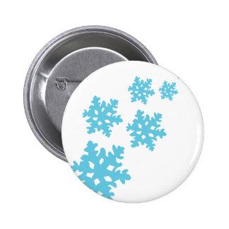 copos de nieve del icey azules pin