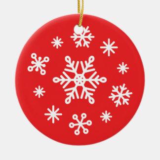 Copos de nieve del invierno del deslumbramiento ornamentos para reyes magos