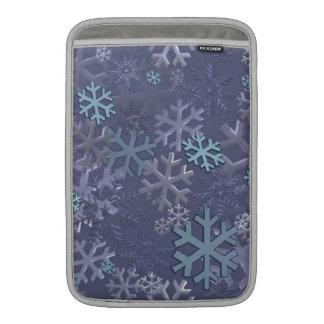Copos de nieve del invierno fundas macbook air