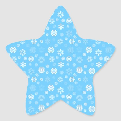 Copos de nieve del invierno pegatina forma de estrella personalizadas
