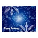 Copos de nieve del invierno postales