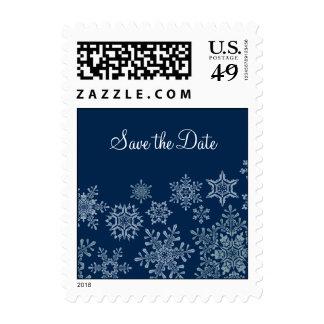 Copos de nieve del invierno que casan reserva el sello