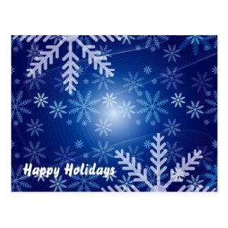 Copos de nieve del invierno tarjetas postales