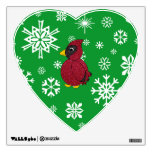 Copos de nieve del navidad cardinales