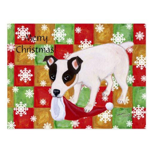 Copos de nieve del navidad de Jack Russell Terrier Postal
