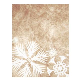 Copos de nieve del navidad de marfil y blanco tarjetas publicitarias