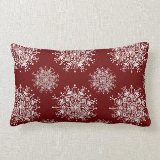 Copos de nieve del navidad del vintage, modelo de cojin