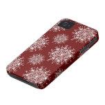 Copos de nieve del navidad del vintage, modelo de iPhone 4 cobertura