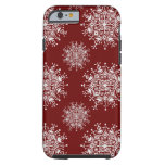 Copos de nieve del navidad del vintage, modelo de funda de iPhone 6 tough