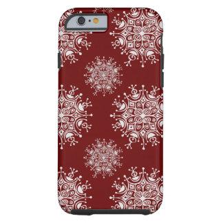 Copos de nieve del navidad del vintage, modelo de funda para iPhone 6 tough