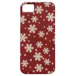 Copos de nieve del navidad iPhone 5 fundas