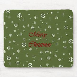 Copos de nieve del navidad tapete de ratones