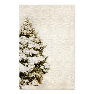 Copos de nieve del navidad verde y blanco papelería de diseño