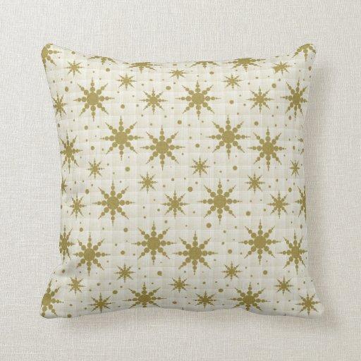 Copos de nieve del oro almohada