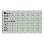 Copos de nieve del verde azul en la plata tarjetas de visita