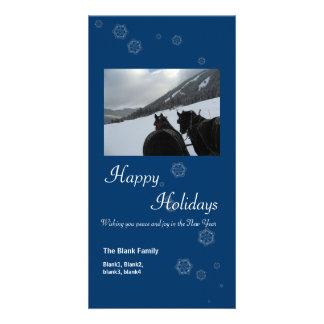copos de nieve dispersados tarjeta de la foto de 6 tarjetas fotográficas personalizadas