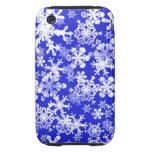 copos de nieve duros del azul de la caja de la iPhone 3 tough carcasas