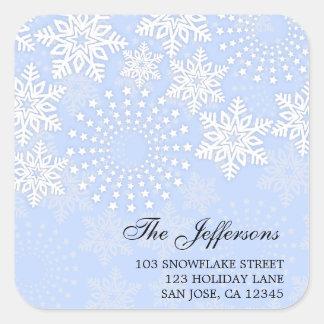 Copos de nieve elegantes 2 - etiqueta de dirección