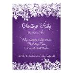 Copos de nieve elegantes del invierno de la invita invitaciones personales