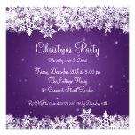 Copos de nieve elegantes del invierno de la invita invitación personalizada
