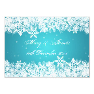 Copos de nieve elegantes del invierno del boda invitación 12,7 x 17,8 cm