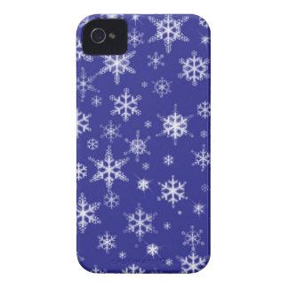 Copos de nieve en azul iPhone 4 coberturas