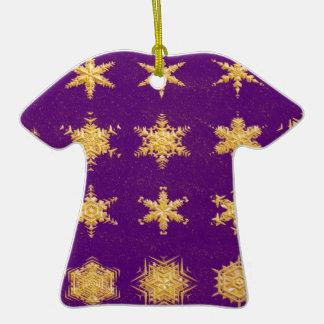 Copos de nieve en el ornamento del premio de la adorno